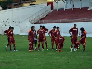 Jogadores do Boa Esporte (Foto: Tiago Campos)