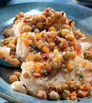 Bacalhau com ragu de grão-de-bico (Foto:  )