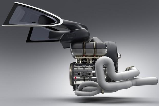 O motor reprojetado pela Williams tem componentes em fibra de carbono e titânio para ser leve (Foto: Divulgação)