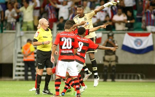 Reclamação Flamengo e Bahia (Foto: Edson Ruiz / Agência Estado)
