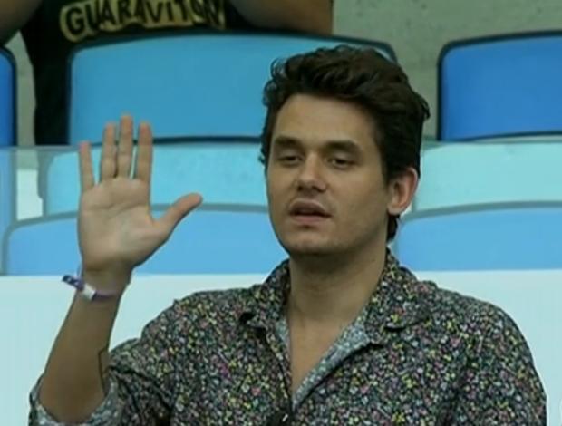 John Mayer no Maracanã (Foto: Reprodução / SporTV)