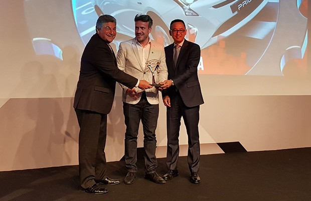 Toyota recebe o troféu de Marca Verde do Ano 2018 (Foto: Autoesporte)