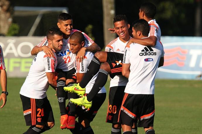 Canteros, Everton, Pico, Recife, Márcio Araújo e Eduardo (Foto: Gilvan de Souza/ Fla Imagem)
