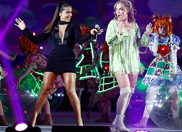 Anitta se apresenta com Fada Bela, personagem marcante de Angélica (Foto: Raphael Dias/Gshow)