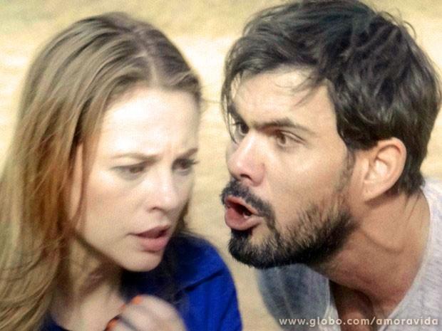 Ninho está a beira da loucura (Foto: Amor à Vida/TV Globo)