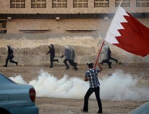 Protesto Barhein (Foto: AFP)