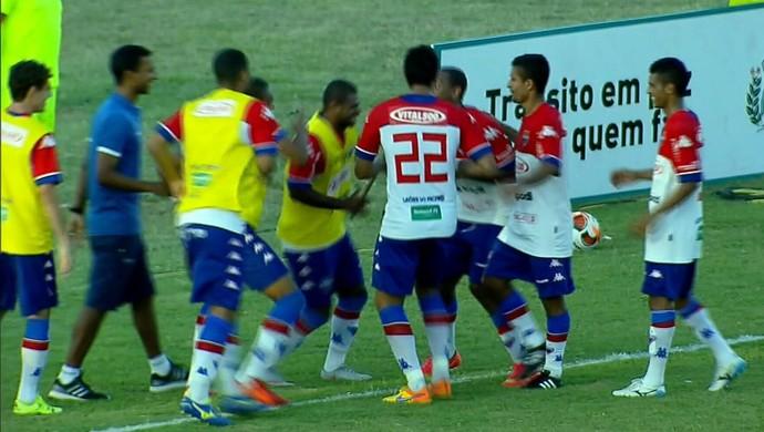 Guarany de Sobral x Fortaleza Campeonato Cearense Junco comemoração (Foto: Reprodução/TV Verdes Mares)