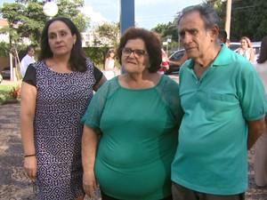 Luciana, Milda e Getúlio, respectivamente, estavam nas primeiras fotos (Foto: Eder Ribeiro/EPTV)