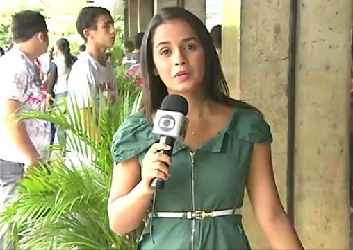 Repórter Ruthiene Bindá mostrou a movimentação no TRE (Foto: Amazônia TV)