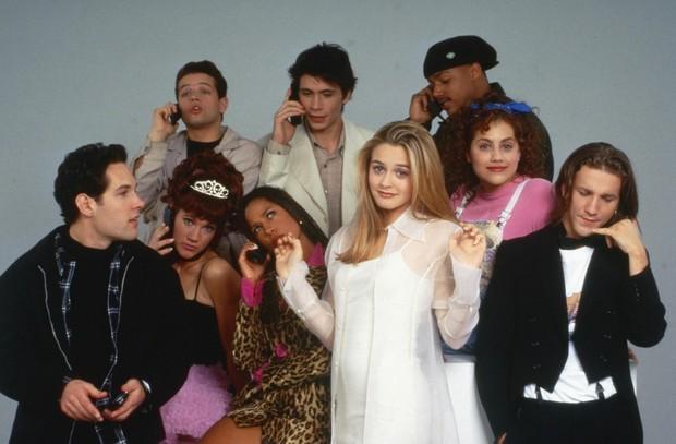 Alicia Silverstone, Brittany Murphy, Paul Rudd e elenco de As patricinhas de Beverly Hills (Foto: Divulgação)