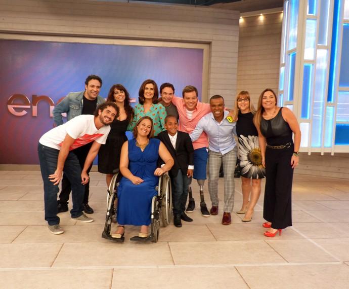 Fátima com os convidados do 'Encontro' (Foto: Viviane Figueiredo Neto/Gshow)