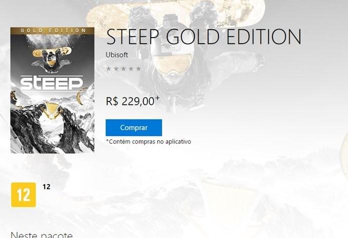 Download de Steep pode ser feito imediatamente após a compra (Foto: Reprodução/Felipe Demartini)