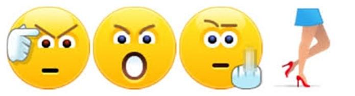 Quatro emoticons foram retirados do mensageiro da Microsoft, trêspor serem considerados ofensivos (Foto: Reprodução/Skype)