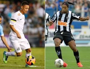 Montagem Neilton Ronaldinho Santos x Atlético-MG (Foto: Agência Estado)