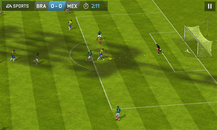 FIFA 14 para Windows Phone ganhou novidades relacionadas à Copa do Mundo 2014 (Foto: Divulgação/Windows Phone Store)