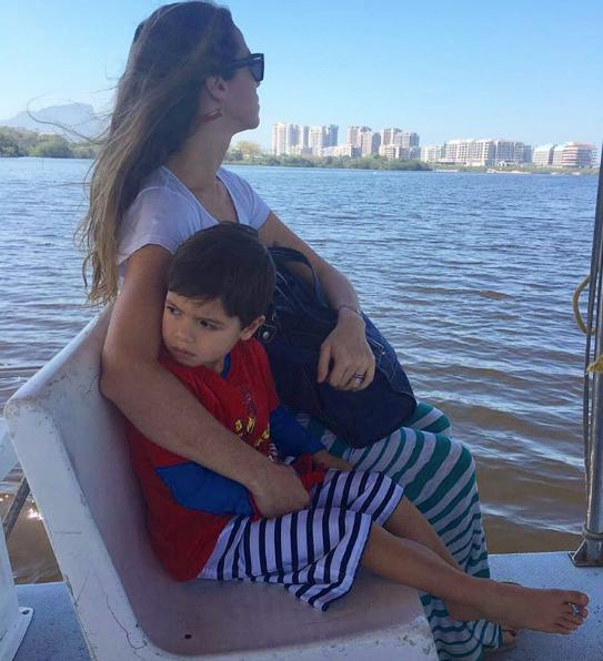 Luana Piovani com o filho mais velho, Dom (Foto: Reprodução / Instagram)