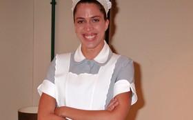 Rosanna Viegas está feliz da vida com sua personagem