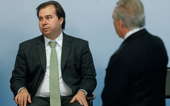 Rodrigo Maia e Michel Temer (Foto:   DIDA SAMPAIO/ESTADÃO CONTEÚDO)