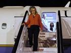 Hillary Clinton desembarca no Brasil
