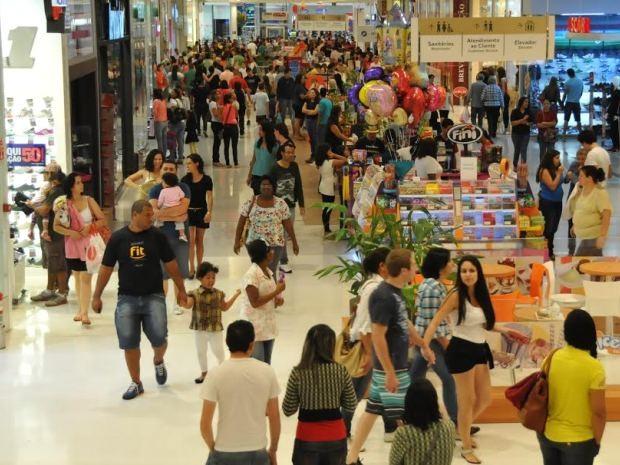 Shopping Parque das Bandeiras registrou alta de vendas e número de visitantes, em Campinas (Foto: Denis Hornos)