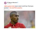 Bayern anuncia que Douglas Costa está fora dos Jogos por causa de lesão