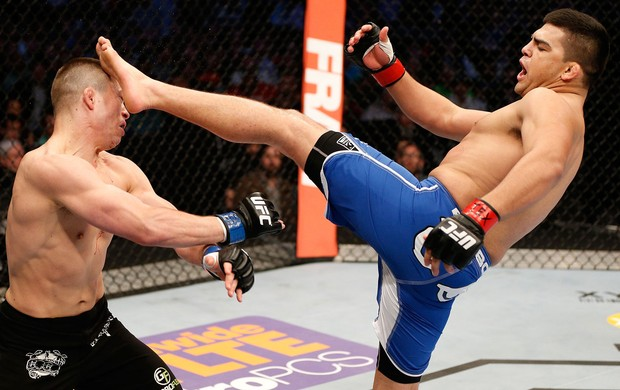 UFC Kelvin Gastelum e Rick Story (Foto: Agência Getty Images)
