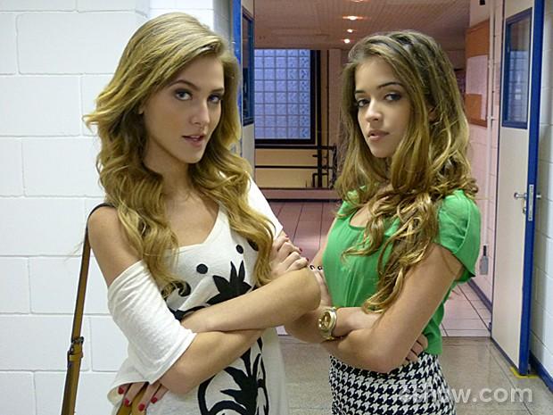 As personagens de Hanna Romanazzi e Anna Rita Cerqueira são atitude pura! (Foto: Malhação / TV Globo)