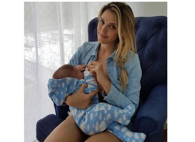 Rafa Brites e Rocco, 3 meses (Foto: Reprodução/Instagram)