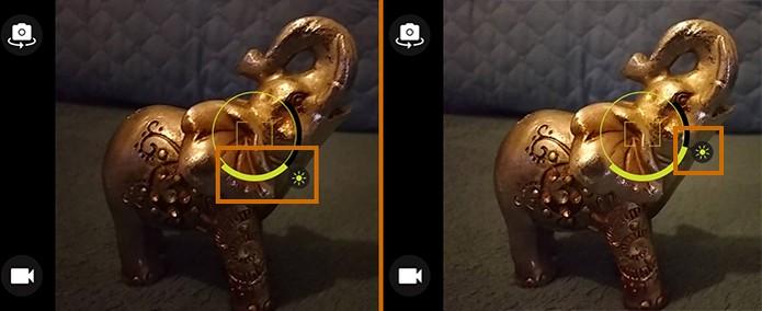 Ajuste a intensidade de iluminação na foto pelo Moto G 3 (Foto: Reprodução/Barbara Mannara)