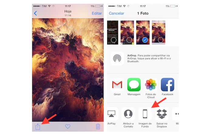Abrindo a imagem na ferramenta de configuração de imagem de fundo do iPhone (Foto: Reprodução/Marvin Costa)