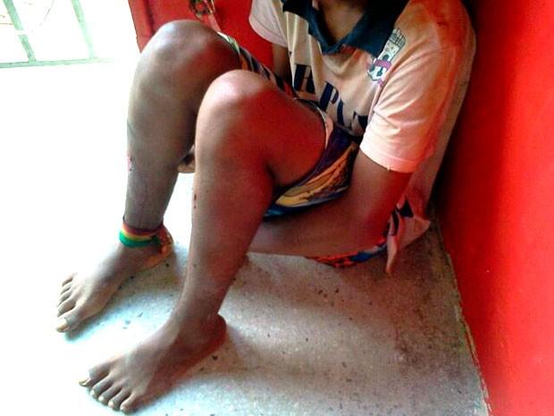 Adolescente apreendido após o assalto a mercadinho em Parnamirim tem 15 anos  (Foto: Larisse Souza/Inter TV Cabugi)