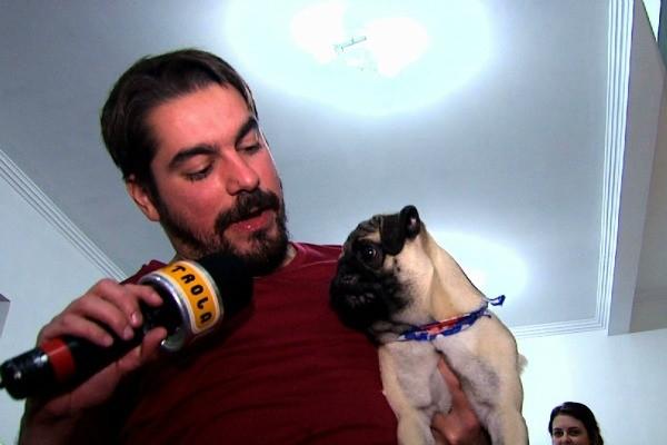 A entrevista exclusiva com o cachorro você vê no Patrola deste sábado (8) (Foto: Reprodução/ RBS TV)