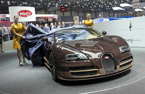 Bugatti Veyron Grand Sport Vitesse Rembrandt no Salão de Genebra (Foto: Newspress)