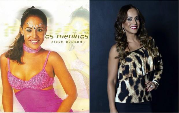 Antes e depois Carla Cristina  (Foto: Divulgação e Roberto Teixeira/EGO)