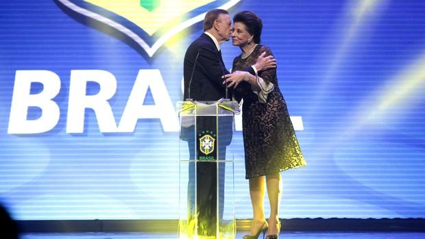 José Maria Marin, Prêmio Brasileirão 2012 (Foto: Miguel Schincariol )