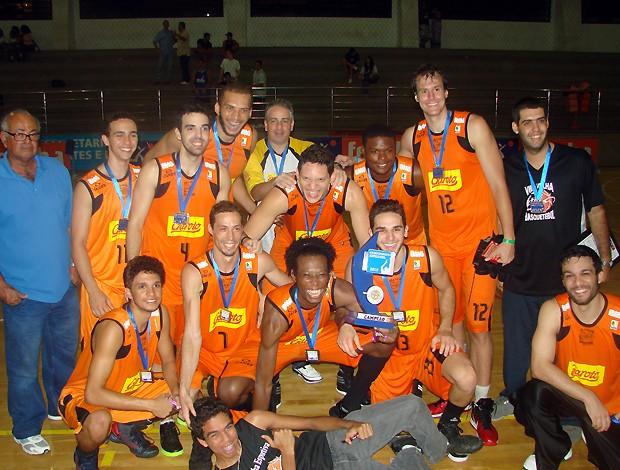 Vila Velha/Cetaf campeão do Capixaba de basquete 2012 (Foto: Sidney Magno Novo/Globoesporte.com)