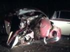 Motorista morre após acidente destruir fusca em Guaimbê