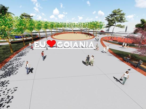 Goiânia vai ganhar monumento presente em várias cidades do mundo (Foto: Diulgação/Comurg)