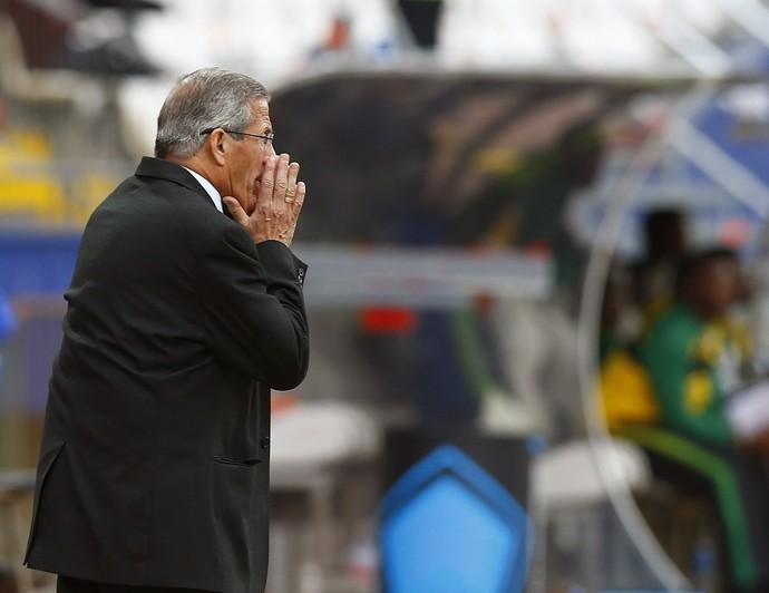 Óscar Tabárez Uruguai x Jamaica (Foto: EFE/Javier Valdés)