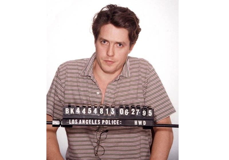Hugh Grant ao ser preso em Beverly Hills (Foto: Divulgação)