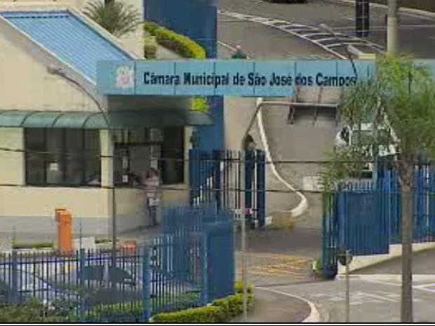 Fachada da Câmara de São José dos Campos (Foto: Reprodução/TV Vanguarda)
