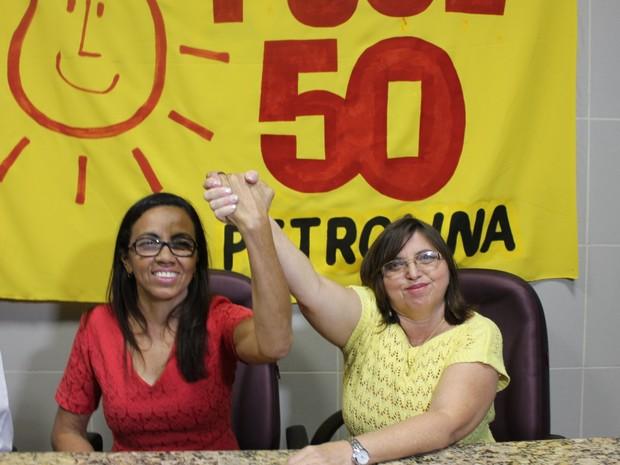 PSOL oficializa Maria Perpétua como candidata à prefeitura de Petrolina e a vice Isabel Macedo  (Foto: Juliane Peixinho / G1)