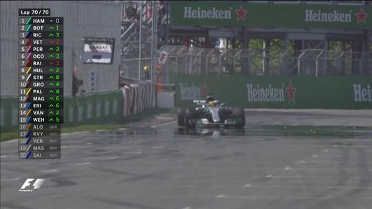 Hamilton lidera de ponta a ponta, vence no Canadá e diminui diferença para Vettel