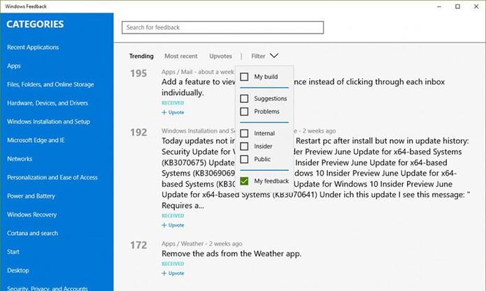 Insider Hub poderá ser acessado por qualquer usuário do Windows para dar feedback (Foto: Divulgação/Microsoft)