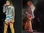 Claudia Leitte deixa hot pant à mostra durante show em boate gay na Bahia