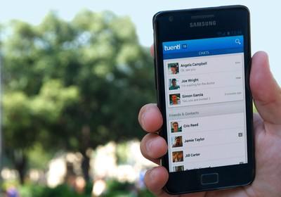Tela do aplicativo da rede social Tuenti (Foto: Divulgação)