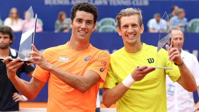 André Sá e Jarkko Nieminen campeões do Aberto da Argentina de tênis (Foto: Divulgação/Argentina Open)