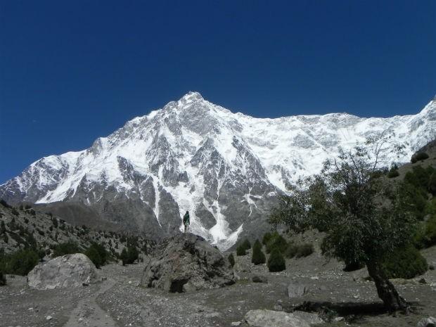 Foto mostra Nanga Parbat, nona maior montanha do mundo, localizada no Paquistão (Foto: Bianca Soprana)