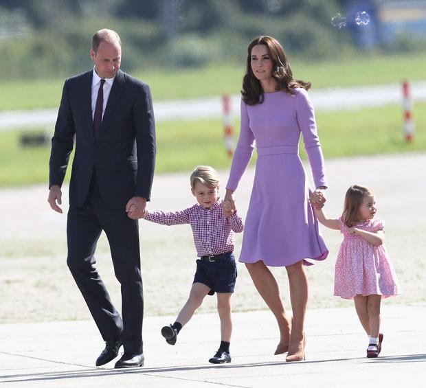 Kate Middleton e príncipe William estão esperando o terceiro filho (Foto: Getty Images)
