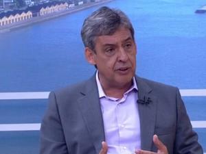 Sebastião Melo concede entrevista ao Jornal do Almoço (Foto: Reprodução/RBS TV)